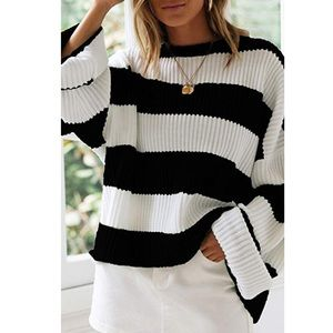Color Block Chunky Oversized Sweater